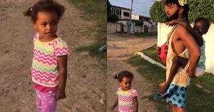 Wanlov and daughters, Ebony and Ama Mampi