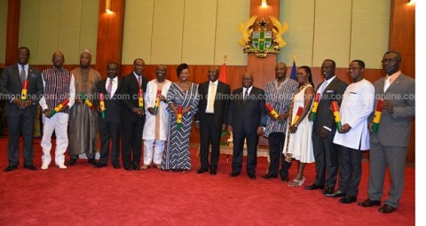 Some of the newly appointed ministers