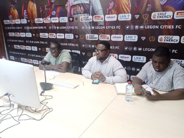 Legon Cities management engage fans on zoom