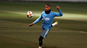Kevin-Prince Boateng is on loan at Barcelona