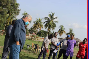 Accra Hearts of Oak new coach, Kosta Papic meets playing body