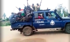 The Secessionist group driving the police patrol vehicle