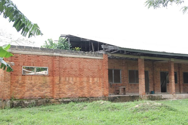 The abandoned dormitory at the St. Joseph Senior High Technical School
