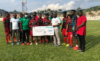 Kotoko received a cheque for GH¢135,000 for keeping clean sheets in 27 matches