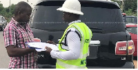 Mr. Agyeman Manu was in the Nissan Patrol with a police officer when his driver was arrested.