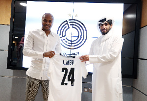 Andre Ayew was unveiled by the Qatari side on Thursday, July 22
