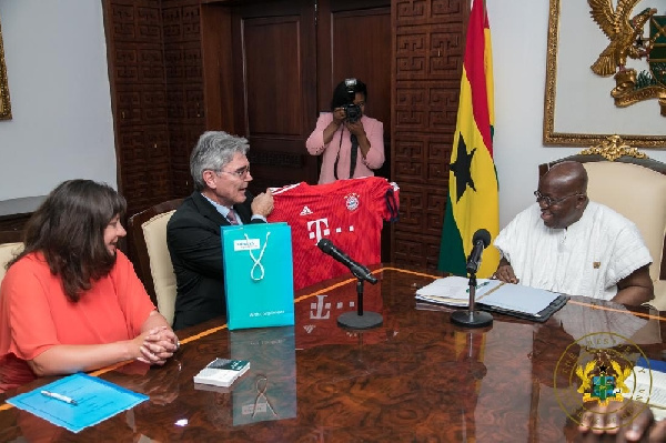 President Nana Akufo-Addo with the Germans at the Jubilee House