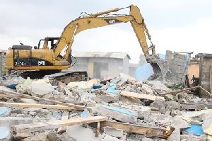 Demolition Weija Gbawe