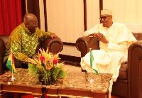 President Nana Addo Dankwa Akufo-Addo and President Buhari