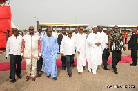 Nana Akufo-Addo, 2016 Flagbearer of the New Patriotic Party with his entourage