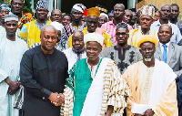 President Mahama with the Chiefs