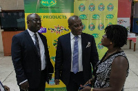 Kofi Osei-Ameyaw, Director General, National Lottery Authority (Middle)