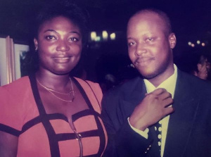 A throwback photo of Irene Opare and Kwami Sefa Kayi