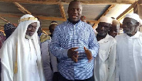Samuel Abu Jinapor speaking to some chief Imams