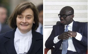 Cherie Blair and Godfred Dame