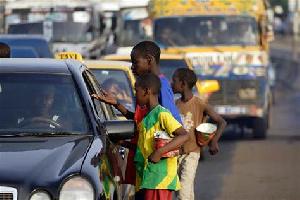 Children begging on the street