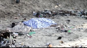 The body was washed ashore on Friday, October 8