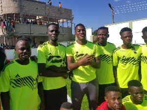 The training match ended 2-1 in favour of Sharaf Mahama's side as he scored the winning goal