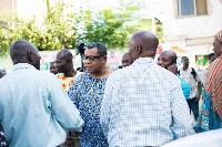 Goosie Tanoh was on tour in the Volta region to meet some delegates