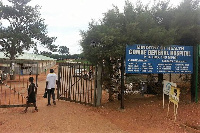People pictured at the main extrance of Gombe General Hospital