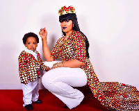 Florence Flomo and baby