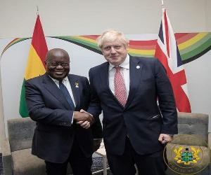 President Nana Addo Dankwa Akufo-Addo with UK Prime Minister Boris Johnson