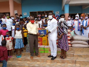 The donation included food items, drinkables and toiletries amounting to several thousands of cedis