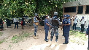 Some of the security personnel at the premise