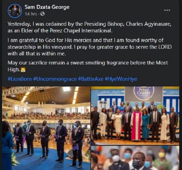 Sam George ordained as elder of Perez Chapel. 4