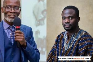 Gabby Asare Otchere Darko (L) and Manasseh Azure Awuni (R)
