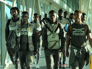 The Ashgold team left the Kotoko International Airport on Wednesday afternoon (1:40 PM)