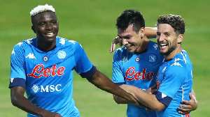 Victor Osimhen and his Napoli teammates