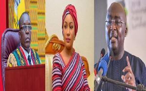 [L-R]: Alban Bagbin, Samira Bawumia, Dr. Mahamudu Bawumia