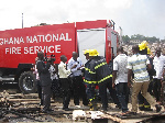 A fire crew was attacked at Moshie Zongo