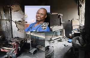 Dr Thomas W Anabah's private hospital was destroyed by fire