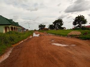 The deplorable state of Taha and Nantong Kpawumo road