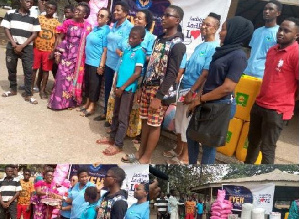 The Foundation donated assorted items to street children in Accra on Wednesday