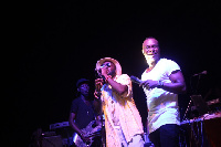 Brymo and M.anifest on stage