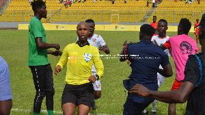 San Pedro players,at the Baba Yara Sports stadium