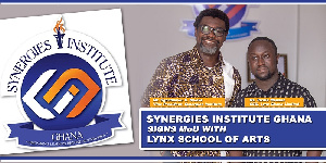 Vice President of Synergies Institute Mr. Ogochukwu C. Nweke and Mr Richie, CEO of Lynx Ghana Ltd