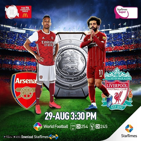 Salah and Aubameyang will be in action for Liverpool and Arsenal respectively