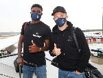 Thomas Partey and his Atletico Madrid teammates arrive in Lisbon for UEFA Champions League showdown