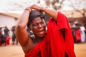 Ghanaian Women Crying Funeral
