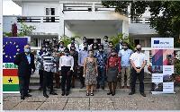 EU Ambassador the Ghana, Diana Acconcia, with the Ghanaian students