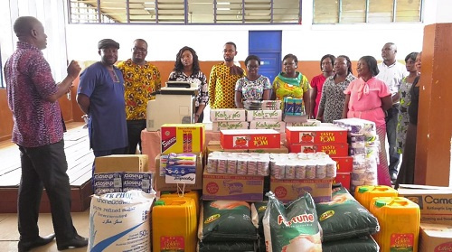 CEO of CBOD, Senyo Hosi led staff of the company to present the items to the Special School