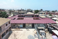 Aerial view of clinic under construction
