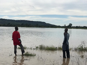 The rainfall destroyed the boundaries of the irrigation sites and swept over the farms