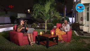 Miss Too Known and presenter Akosua Konadu Owusu