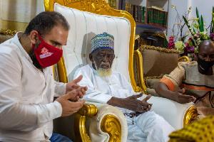 Sheikh Dr. Usamanu Nuhu Sharabutu with an official of BlowChem Industries