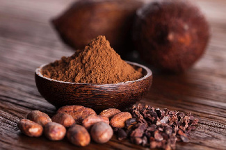 File photo: Cocoa beans and its powder